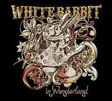 White Rabbit Carnivale Style - Gold Version by Sally McLean