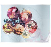 pomegranates cubism Poster