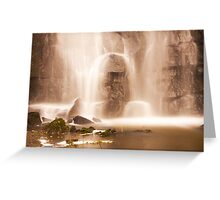 Swallet Falls Derbyshire Greeting Card