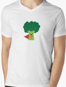Super Broccoli Mens V-Neck T-Shirt