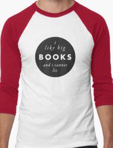 Big Books Love Men's Baseball ¾ T-Shirt
