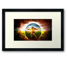Protection was left to our own devices Framed Print