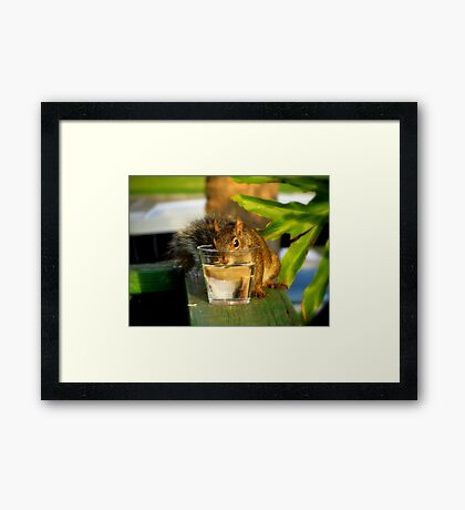 I'm Awfully Hot... May I Have a Drink Please?? Framed Print