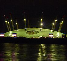 The O2 arena taken from the Thames by Meladana