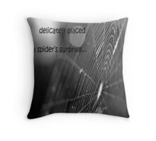 A Spider's Surprise Throw Pillow