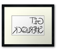 """Get Sherlock"" Reflection in Black Framed Print"