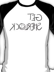 """Get Sherlock"" Reflection in Black T-Shirt"