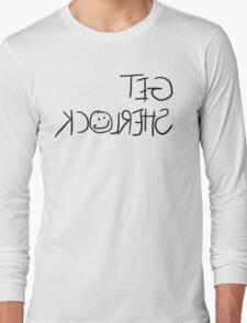 """Get Sherlock"" Reflection in Black Long Sleeve T-Shirt"
