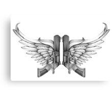 guns and wings Canvas Print