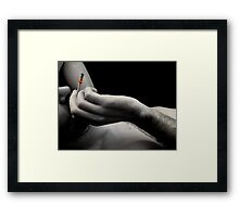 Polluted lungs Framed Print