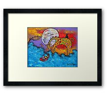 Land Meets Sea Framed Print