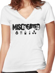 Miscreated V Neck  Black Text (Official) Women's Fitted V-Neck T-Shirt