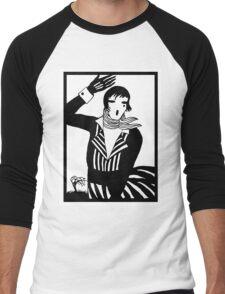 The female Scream, black and white Vector Art Men's Baseball ¾ T-Shirt