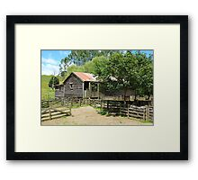 Old Woolshed  Framed Print