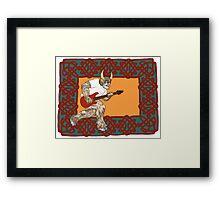 Celtic Minotaur Guitar Framed Print