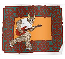 Celtic Minotaur Guitar Poster