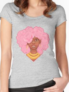 Rose Heart Women's Fitted Scoop T-Shirt