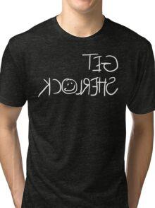 Get Sherlock Reflection in White Tri-blend T-Shirt