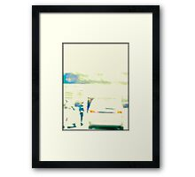 Person by a Car Framed Print