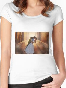 Wedding Bride and Groom Women's Fitted Scoop T-Shirt