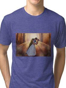 Wedding Bride and Groom Tri-blend T-Shirt