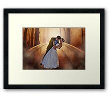 Wedding Bride and Groom Framed Print