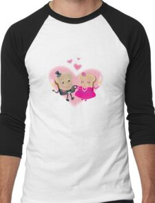Valentine Toast Couple Men's Baseball ¾ T-Shirt