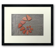 Sea pottery pieces of genuine surf worn Spanish terracotta Framed Print