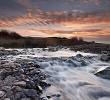 Kilve Pill under a Mackerel Sky by kernuak