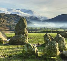 Helvellyn From Castlerigg Stone Circle by Jamie  Green