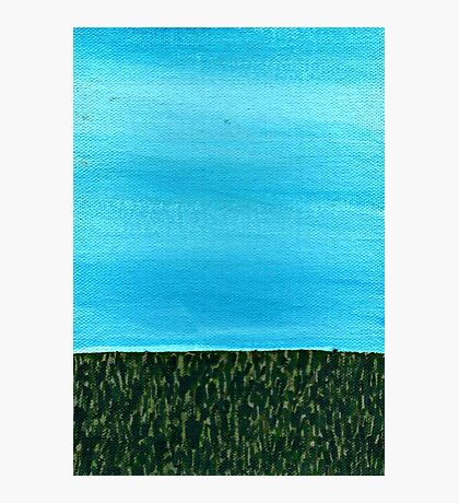 It's a beautiful day ~ Sky and Grass Photographic Print