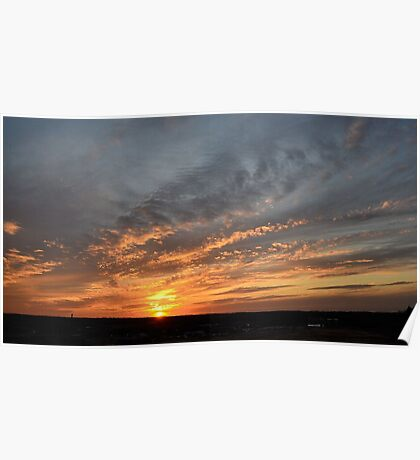 Sunset in Kansas II Poster
