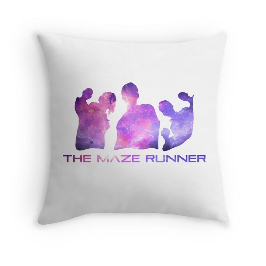 Maze Runner Glader Galaxy   Throw Pillow