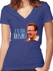 Gary: Extra Raisins Women's Fitted V-Neck T-Shirt