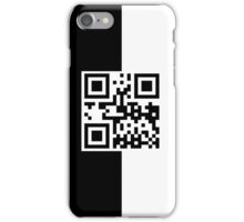 PHONE QR Code - Black and White iPhone Case/Skin