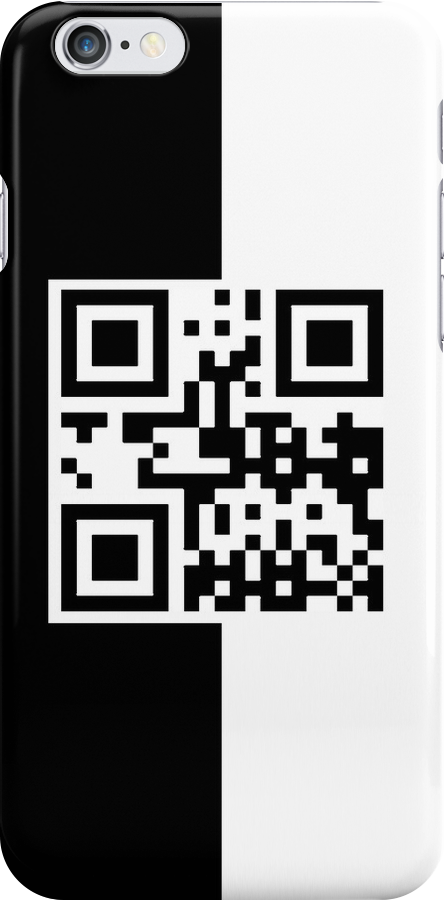 PHONE QR Code - Black and White by ubiquitoid