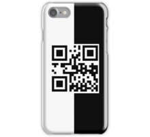PHONE QR Code - White and Black iPhone Case/Skin