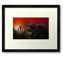 Cities On Flame Framed Print
