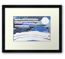 Layers of Snow  Framed Print