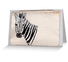 Zebra, 2007 - ink on khadi Greeting Card