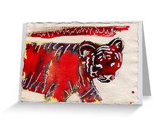 Tiger, 2007 - ink on khadi Greeting Card