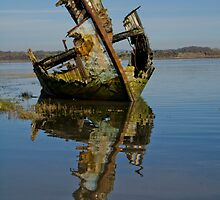 Boat Wreck on Fleetwood Marshes I by TheWalkerTouch