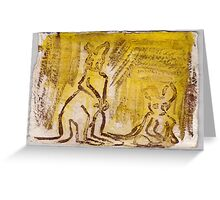Wallabies, 2007 - ink on khadi Greeting Card