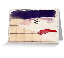 Shark in Captivity, 2007 - ink on khadi Greeting Card