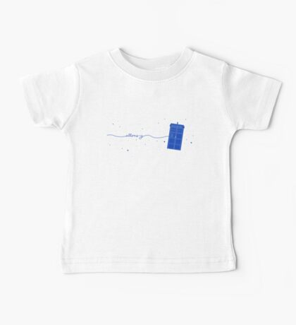 Allons-y to the TARDIS (in blue) Baby Tee
