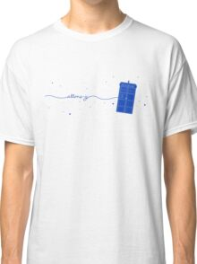 Allons-y to the TARDIS (in blue) Classic T-Shirt