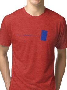 Allons-y to the TARDIS (in blue) Tri-blend T-Shirt