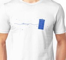 Allons-y to the TARDIS (in blue) Unisex T-Shirt