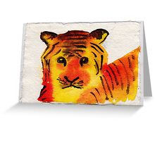 Young Tiger, 2007 - ink on khadi Greeting Card