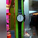 Giant Watch in a Mall Store Window by Jane Neill-Hancock